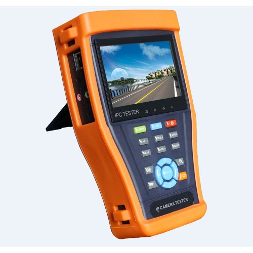 "4.3"" HDTVI/HDCVI/IP/Analog Test Monitor, Touch Screen, ONVIF, PTZ, 1080P, Wifi, PoE"