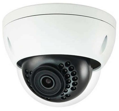 """1/3"""" 4MP WDR IR Mini Dome Network Camera, H.265+, 3.6mm Lens, 30fps@4MP, IP67, IK10, 98' IR, PoE, IVS, Micro-SD Slot, UL Listed"""