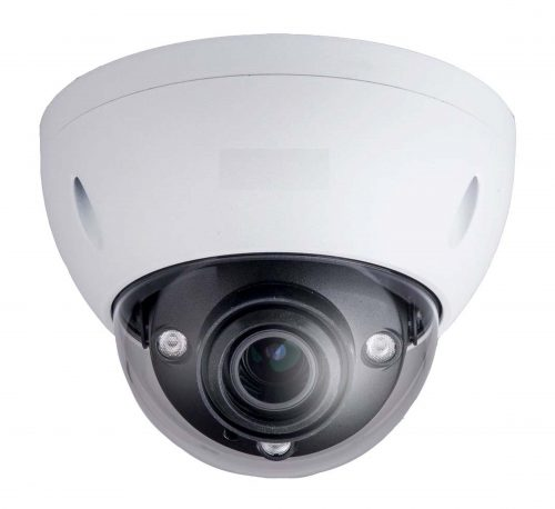 "1/2.5"" 8MP IR Dome Network Camera, H.265+, 2.7-12mm Lens, 15fps@8MP, IP67, IK10, 164' IR, PoE, Micro-SD Slot, UL Listed"