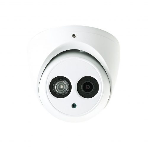 """1/3"""" 4MP WDR IR Mini Dome Network Camera, H.265+, 2.8mm Lens, 30fps@4MP, IP67, IK10, 98' IR, PoE, IVS, Micro-SD Slot, UL Listed"""