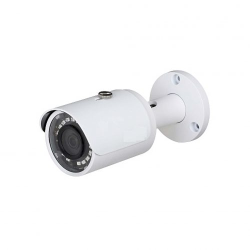 """1/3"""" 4MP WDR IR Mini Bullet Network Camera, H.265+, 3.6mm Lens, 30fps@4MP, IP67, 98' IR, PoE, IVS, UL Listed"""