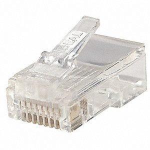 RJ45 connector, 8 Pins Plug in (100pcs/bag)