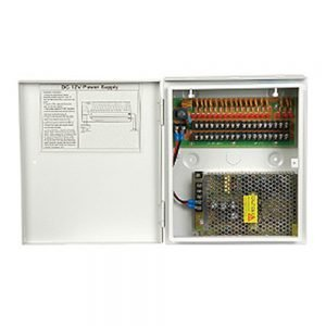 DC 12V/10A, 18 x 1.1A power supply