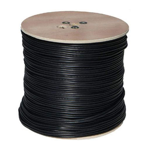 RG59 Siamese Coaxial/Power Cable, 1000ft., Black