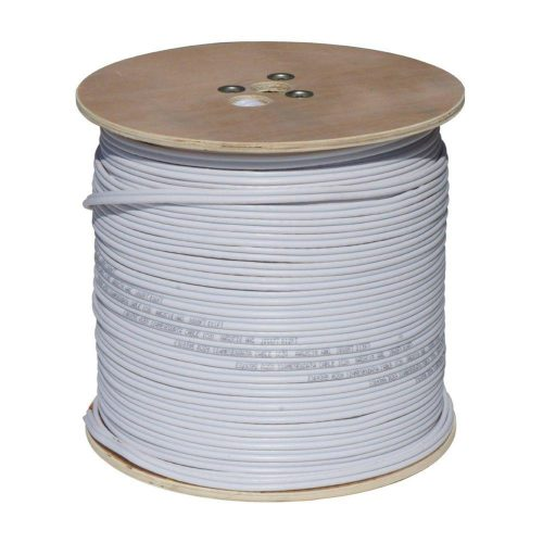 RG59 Siamese Coaxial/Power Cable, 1000ft., White