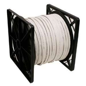 500ft 95% SIAMESE CABLE-White Color