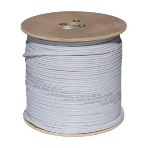 RG59 Siamese Cable with 18/2 Power and 24/2 DATA, 1000ft., White