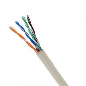 CABLE CAT5E 1000F/Pull box, ETL certified, full copper, color option - White 1000FEET/REEL IN THE BOX, CCA